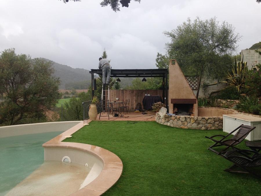 Calentamiento de piscinas con energía solar.