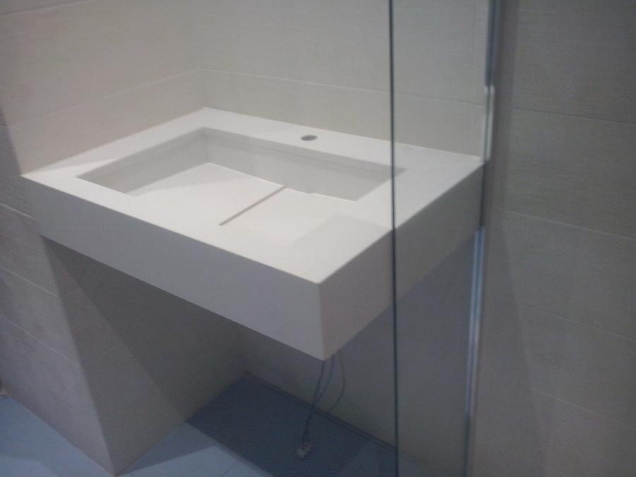 Encimera lavabo cuarzo blanco Supremo