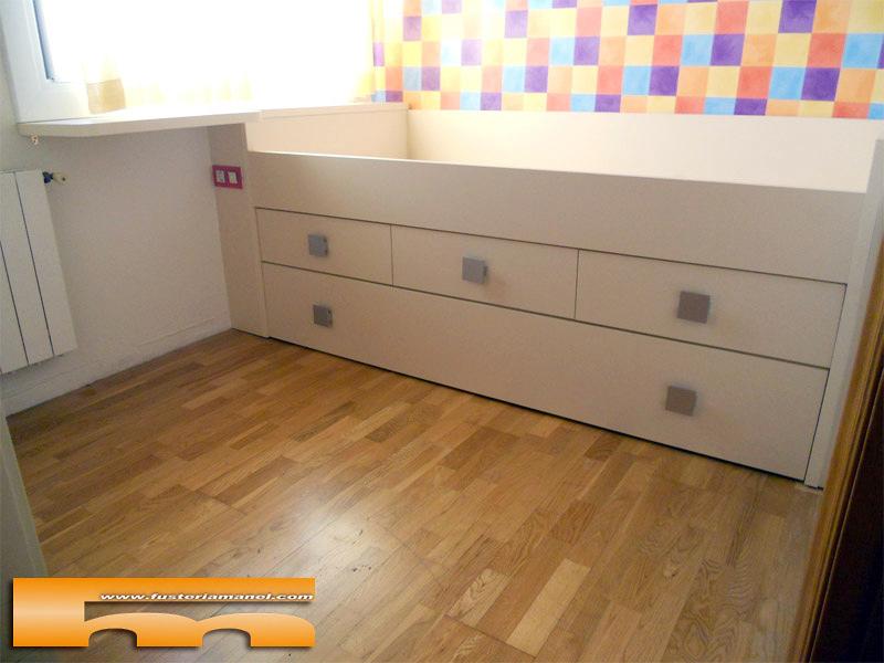 Foto cama a medida con cajones y nido barcelona de for Medidas cama nido con cajones