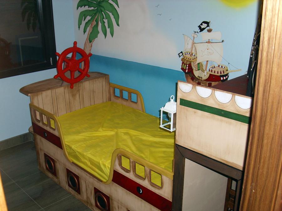 Foto cama barco pirata de mil tendencias 139336 - Cama barco pirata ...
