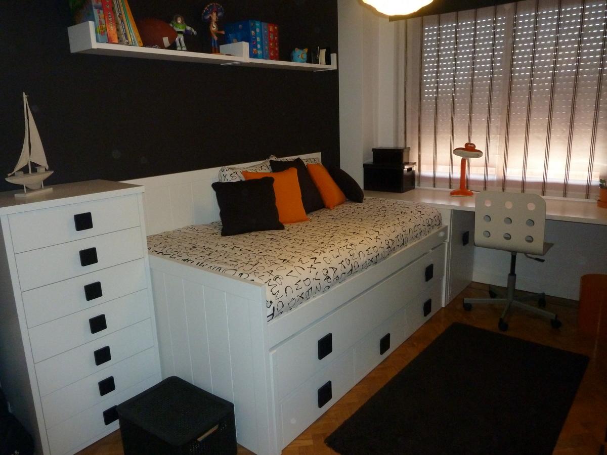 Foto cama compacta con cajones gran capacidad y una for Cama compacta infantil