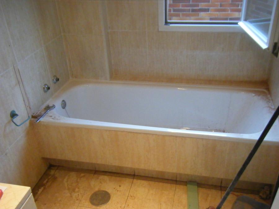 Foto cambio ba era por plato de ducha en 24 horas antes - Sustitucion de banera por plato de ducha ...