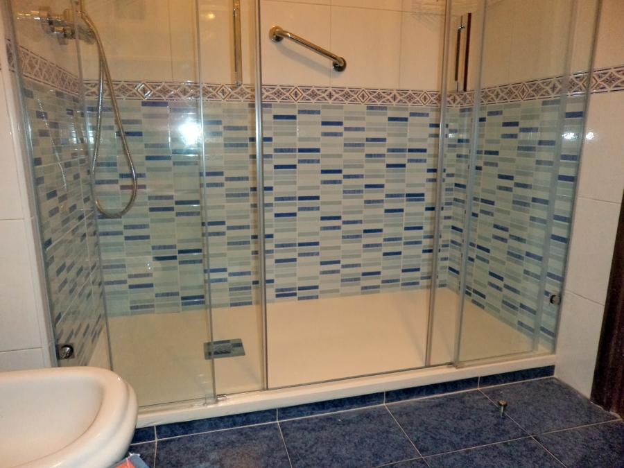 Plato de ducha extraplano, 3 cm de espesor, en blanco acabado pizarra ...