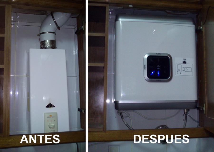 Foto cambio de calentador de butano por termo electrico de jesus gomez 480788 habitissimo - Armario exterior caldera gas ...