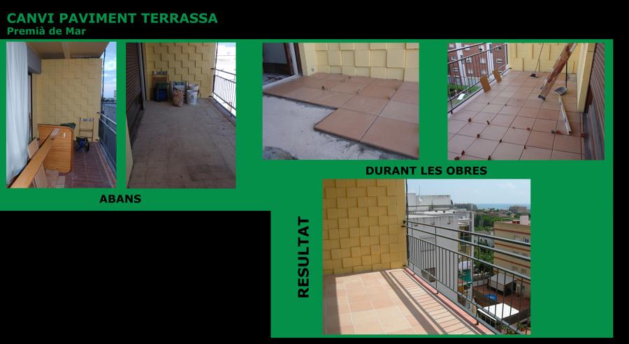 Foto cambio pavimento de terraza de rehabilitacions - Cambio piso en zaragoza ...