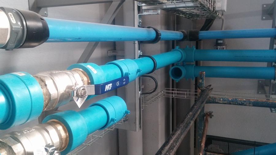 Canalización de instalacion de refrigeración