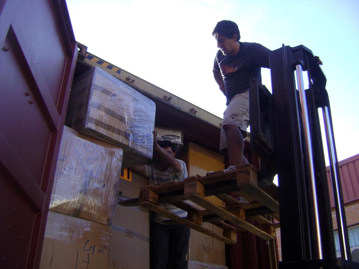 Cargando un contenedor