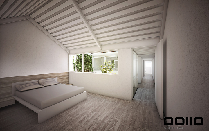 Casa 2QR_Interior dormitorios Planta Primera