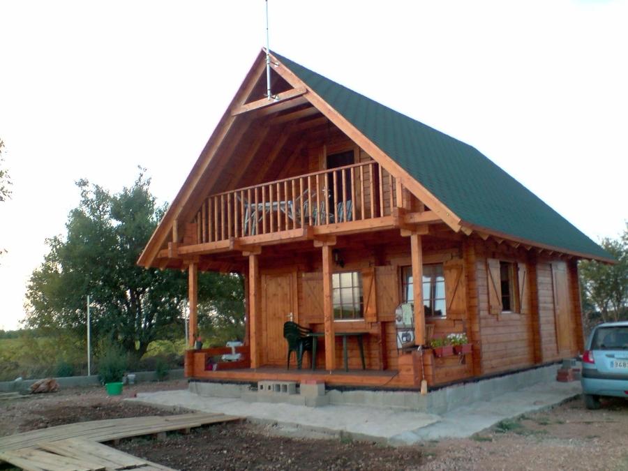 Foto casa de madera modelo cervino acabado de casas de - Modelos casas madera ...