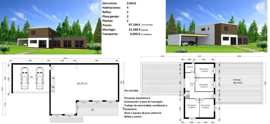 Foto casa minimalista con acabado monocapa exterior de for Casa minimalista tarragona