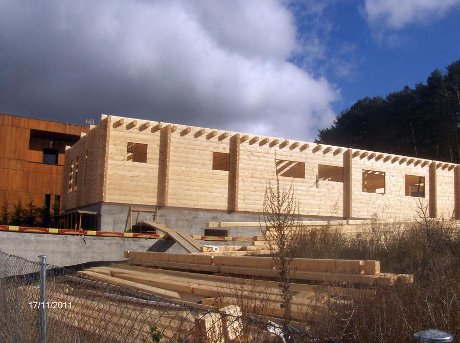 casa y porches de madera
