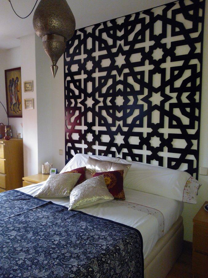 Baños Arabes Toledo Opiniones:Celosías de MDF lacadas en color wengue, celosia decorativa a modo de