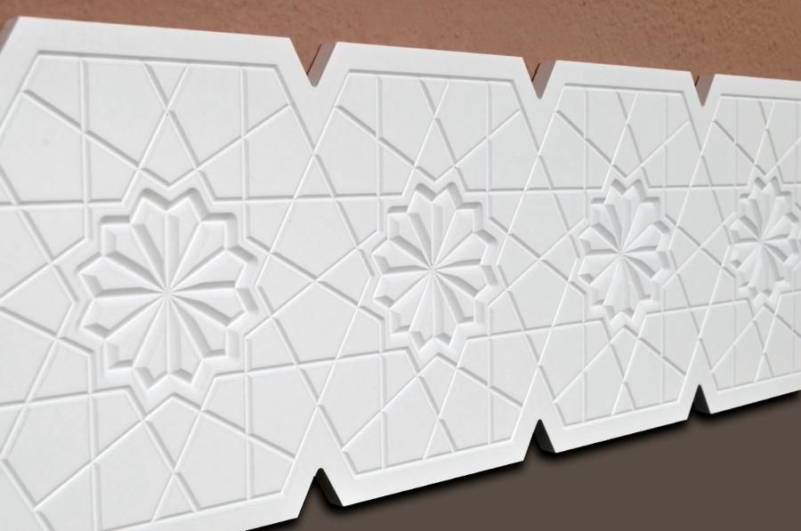 Cenefa decorativa tallada andalusi