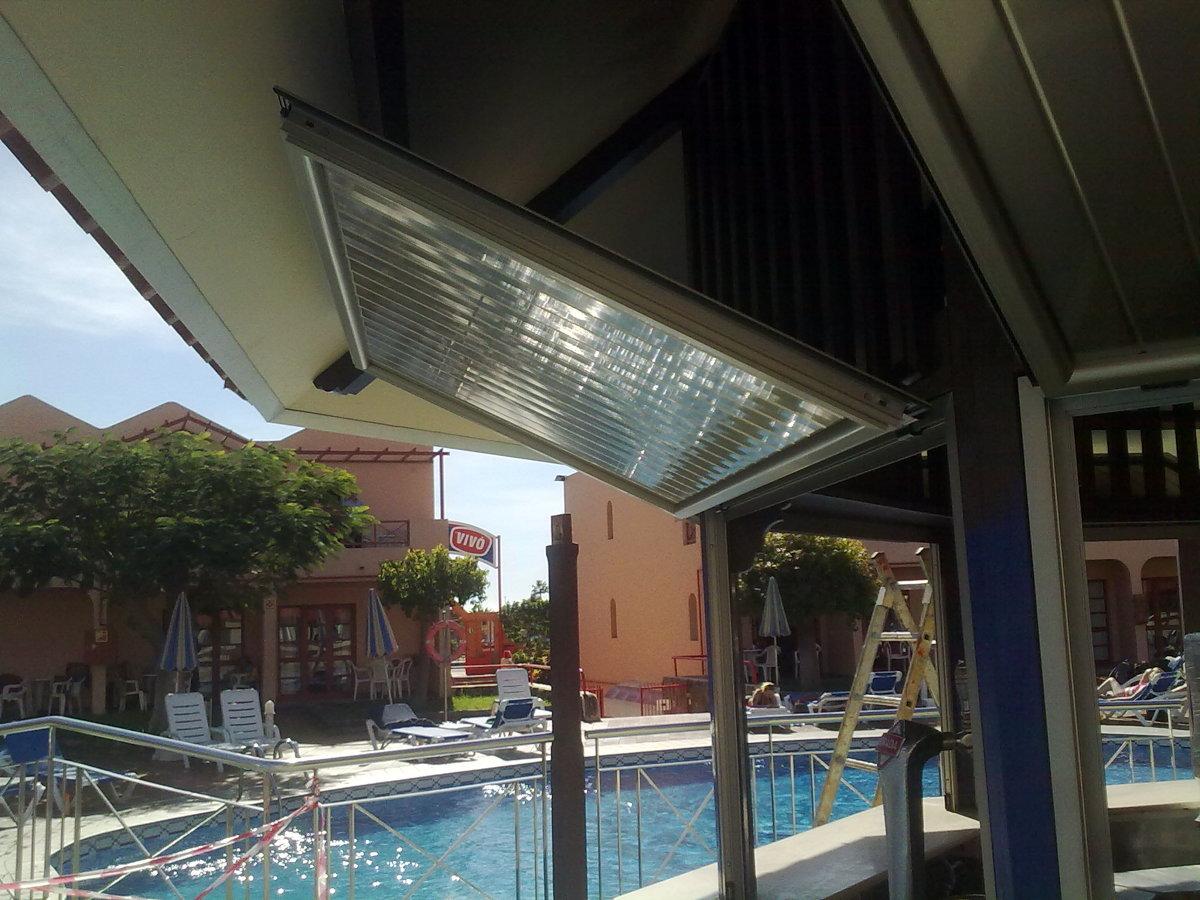 cerramiento cantina pissina Turbo Club Maspalomas