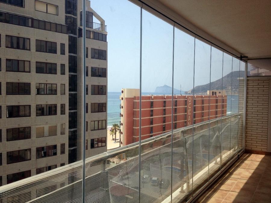 Foto cerramiento de balcon de cortina de cristal 333327 habitissimo - Cerramientos de balcones ...