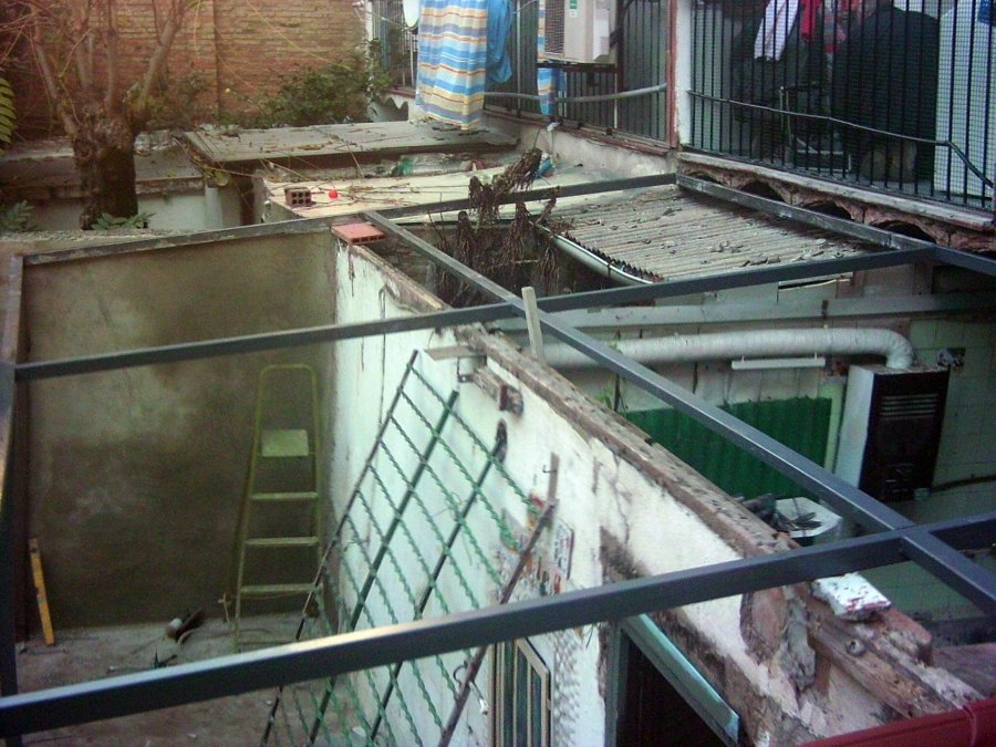 Foto cerramiento de terraza con panel sandwich imitacion - Fotos de cerramientos de terrazas ...