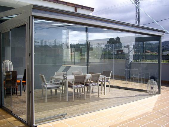 Foto cerramiento de terraza en ovi ana asturias de dise a soluciones en vidrio 314339 - Cortinas de lona para terrazas ...