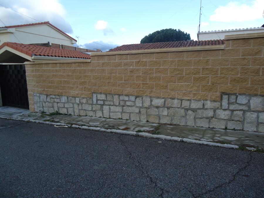 Foto cerramiento exterior con bloque split de sanchez - Cerramientos de piedra ...