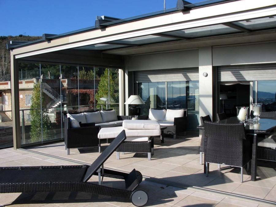 Foto cerramiento terraza con vidrio de aluspai s l - Cerramientos plegables de vidrio ...