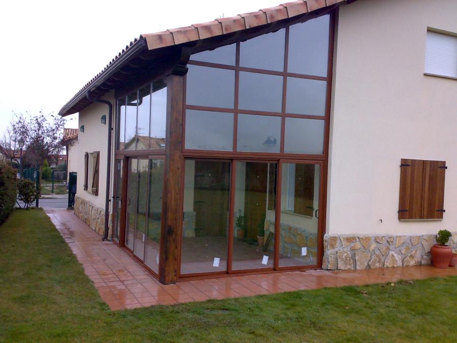Foto cerramientos exteriores de carpinter a met lica - Cerramientos de patios exteriores ...