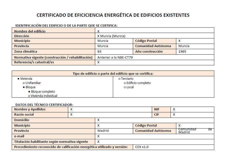 Foto certificado energ tico de procener madrid 303033 for Certificado energetico en santander