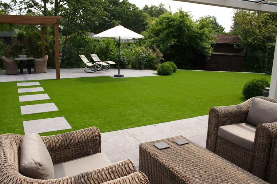 Foto c sped artificial jardin de globalcesped 711142 - Jardines de cesped artificial ...