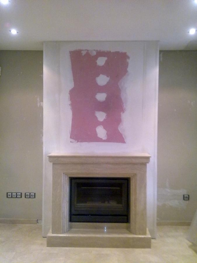 Foto chimenea con pladur r f de escayolas y pladur for Cosas decorativas para la casa