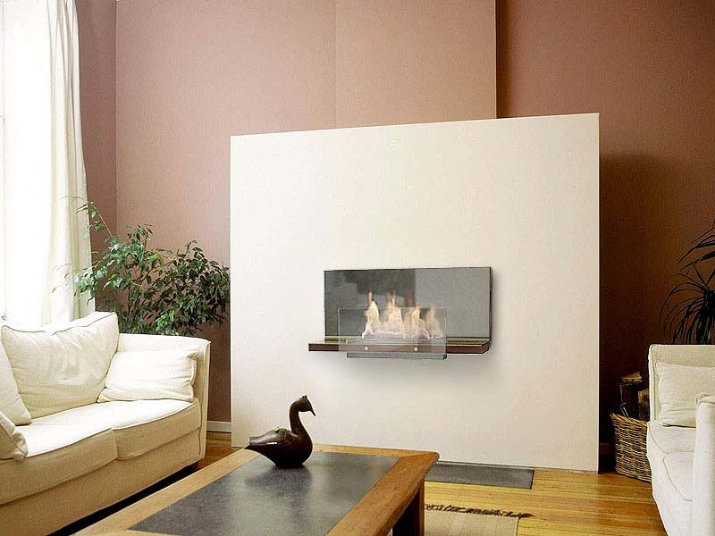 Foto chimenea de bioetanol de interio pared extrecha sin for Chimeneas interiores sin humo