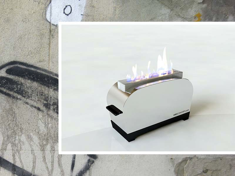 Foto chimeneas de bioetanol de dise o toaster de - Calientan las chimeneas de bioetanol ...