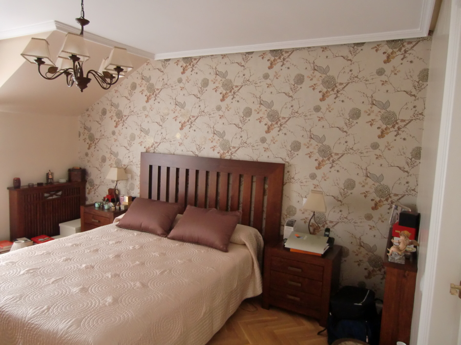 Foto papel pintado dormitorio principal de pintura y - Papel pintado dormitorio principal ...