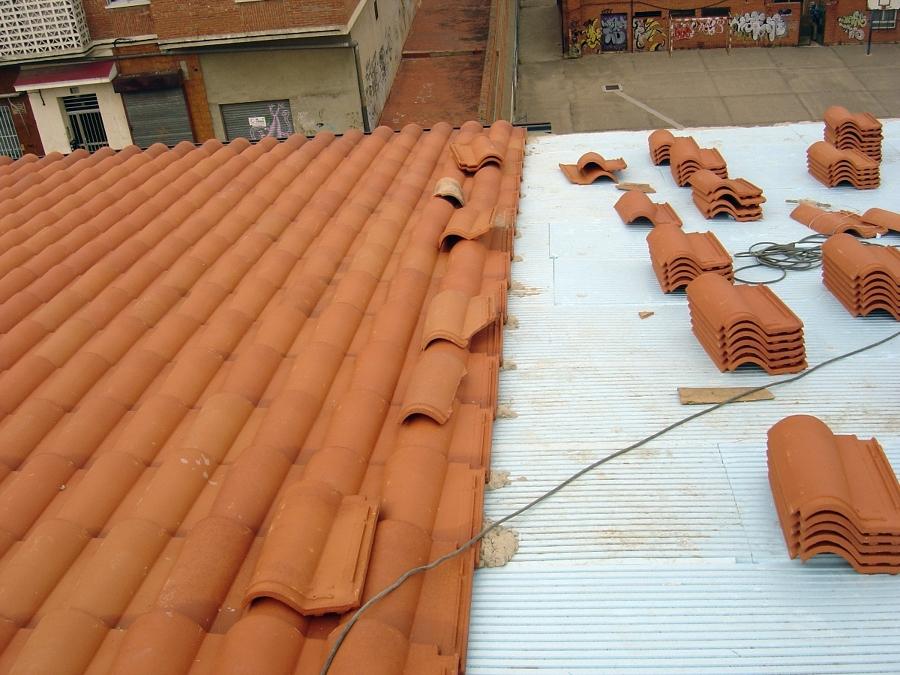 Cobertura de teja mixta sobre aislante térmico