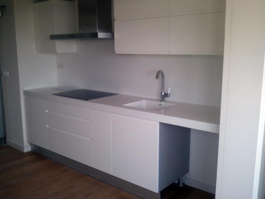 Foto cocina blanca de ebanisteria ebantench 459587 - Cocina blanca mate ...