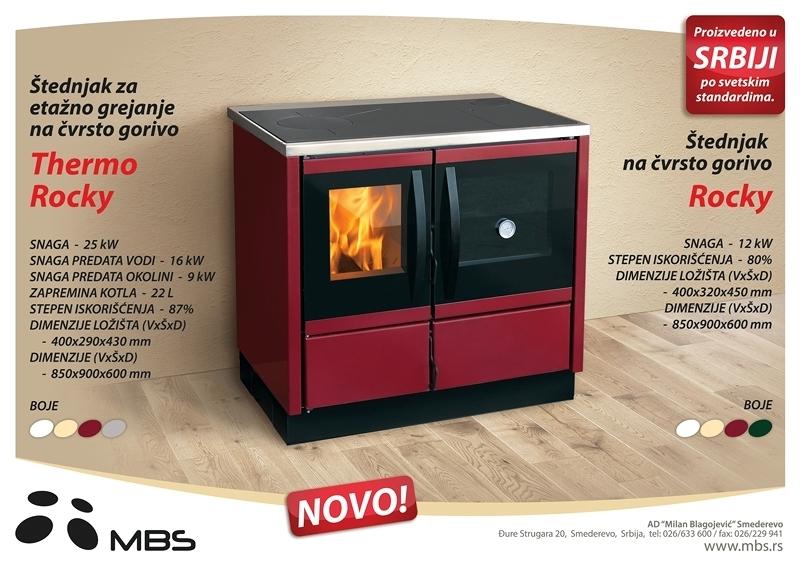 Foto cocina calefactora 25kw modelo thermo rocky de for Cocinas granada precios