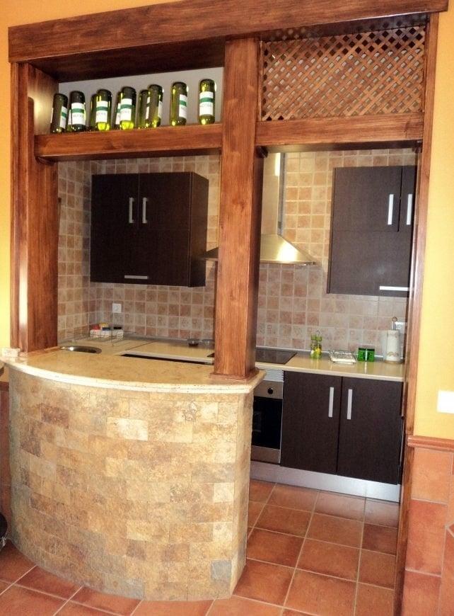 Foto cocina campera con barra americana de proyectos y edificaciones rodrisan 302373 habitissimo - Barra americana para cocina ...