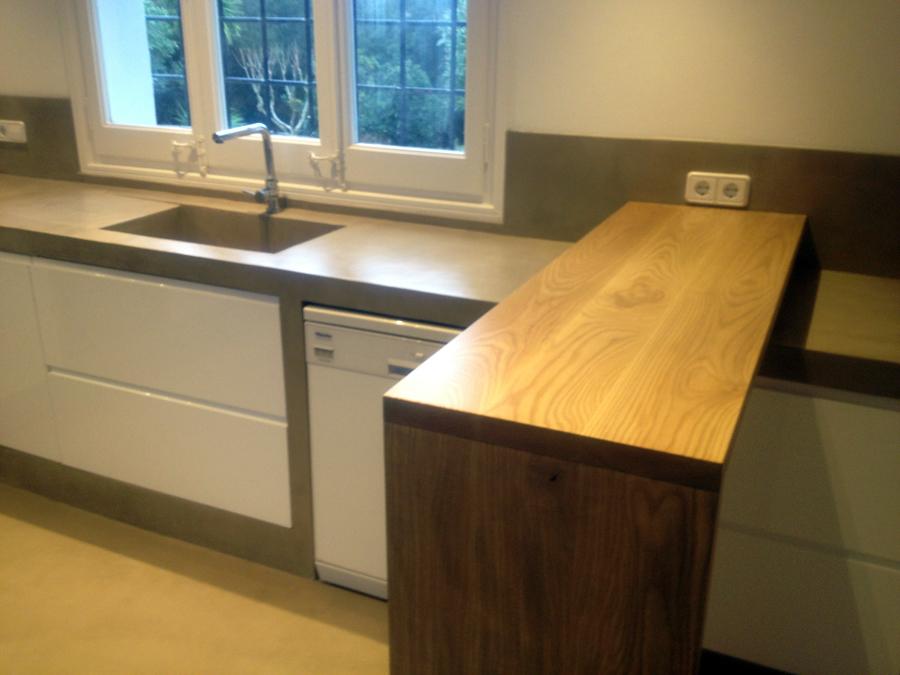 Foto cocina cemento pulido de betonisart 391408 for Cocinas de concreto forradas de azulejo