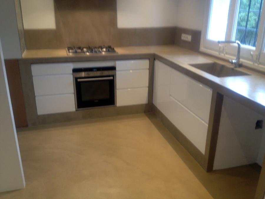 Foto cocina cemento pulido de betonisart 391410 for Habitissimo cocinas