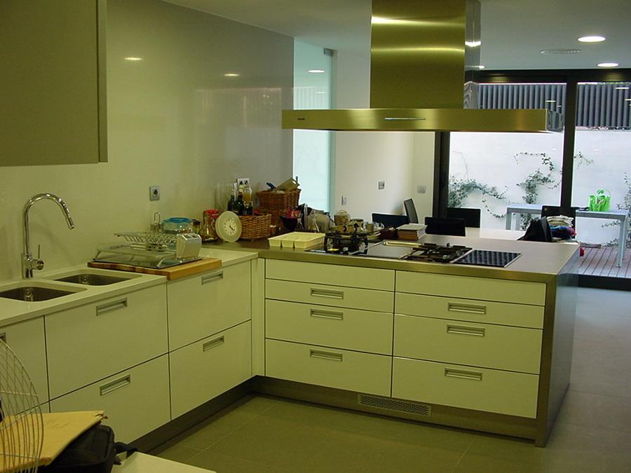 Cocina en un casa de la zona alta de Barcelona