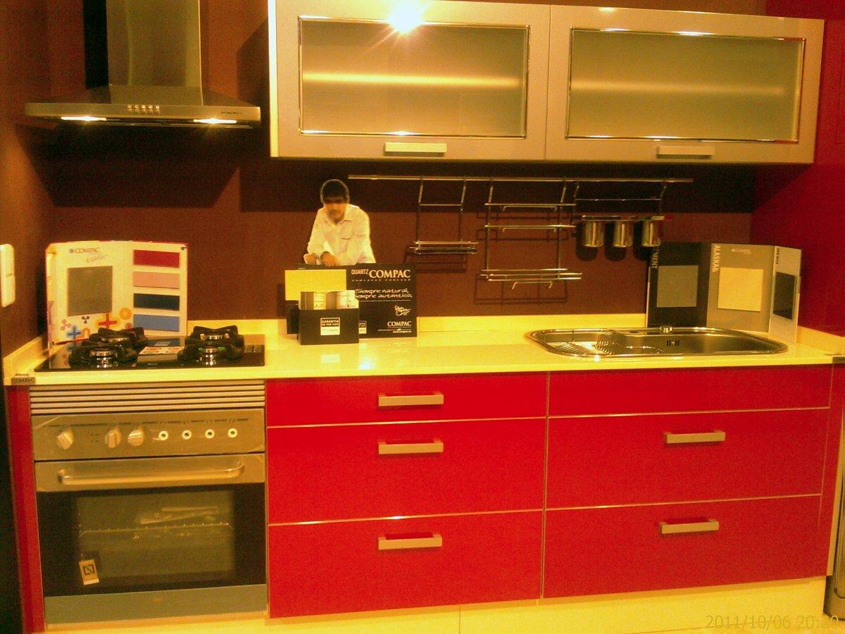 Cocina laminado rojo