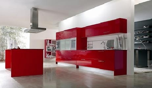 Foto cocina roja brillo de sacoba de chicano 293481 for Cocinas en humanes de madrid