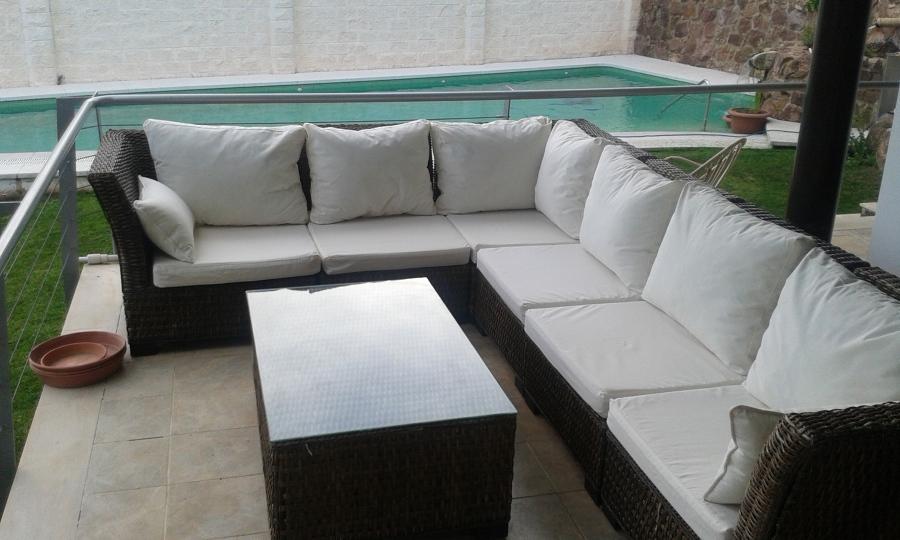 Foto cojines para sof rinconero de exteriores de luque y for Sofa cama para exterior
