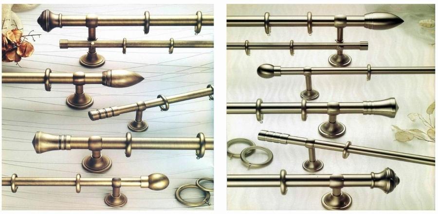 Foto coleccion barras de cortinas cromo brillo niquel - Barra de madera para cortinas ...