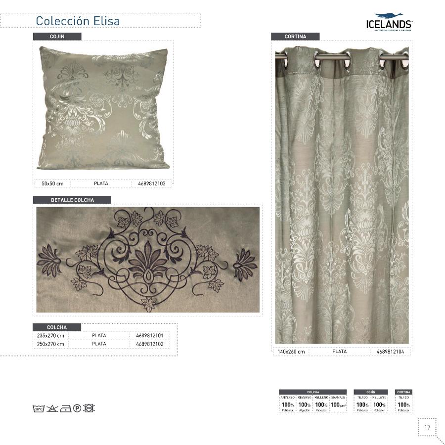 colecciones de cortinas, cojines y colchas
