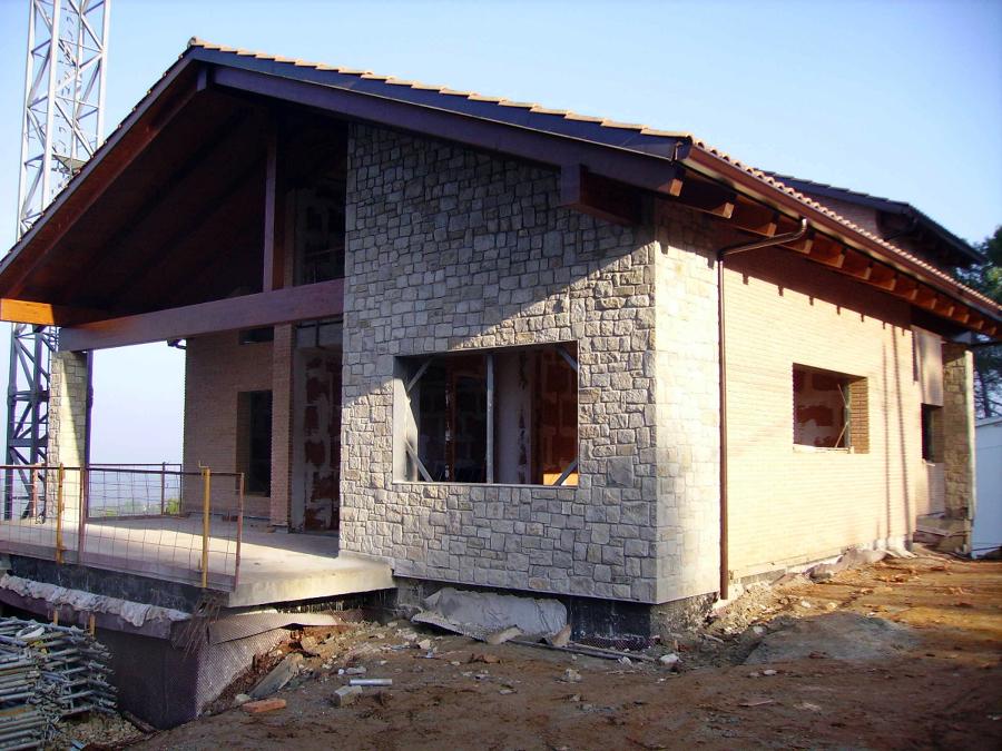 Colocacion de piedra rectangular con junta de mortero