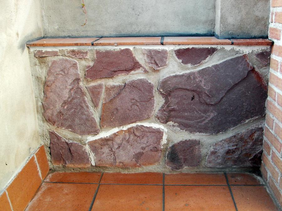 colocación de piedra
