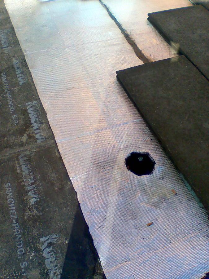 colocacion de tela asfaltica con doble capa normal y polimerica