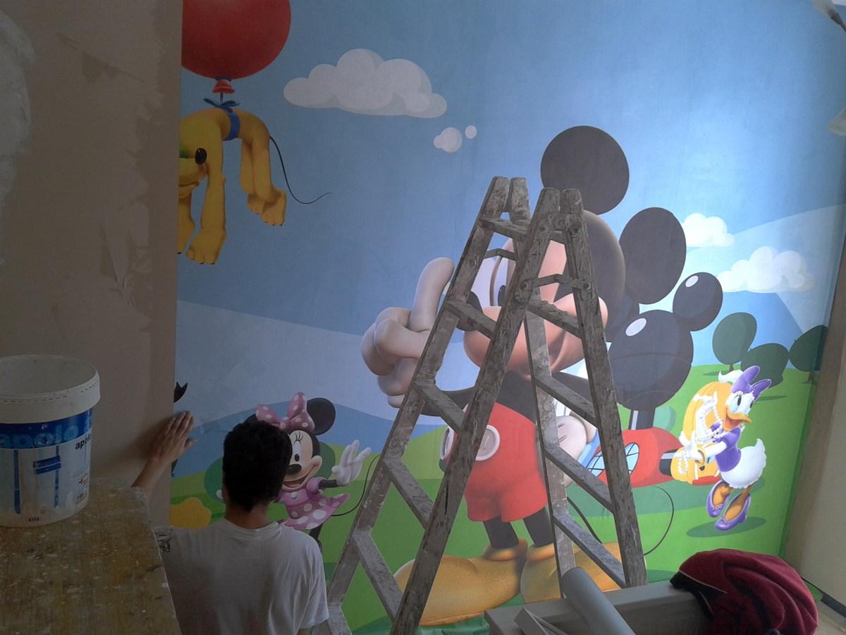colocacion foto mural infantil