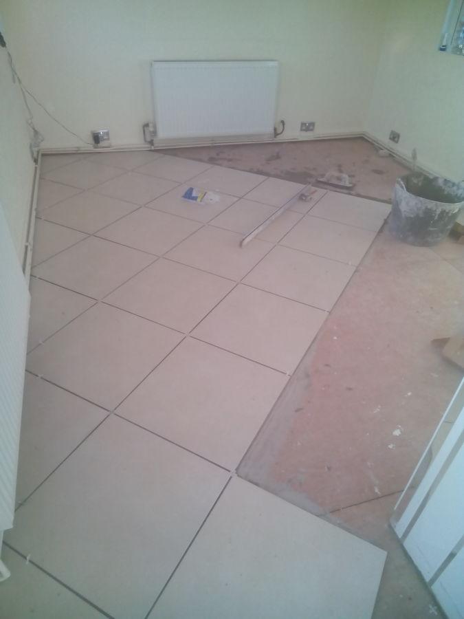 Foto colocacion suelo de gres en la cocina de daniel - Suelos de gres para cocinas ...