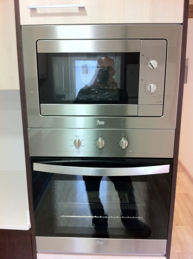 Foto columna vertical para horno y microondas de deco - Columna horno y microondas ...