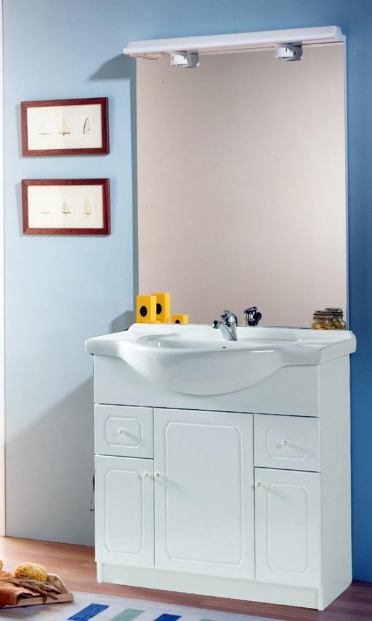 Mueble ba o rustico blanco for Conjuntos de bano baratos