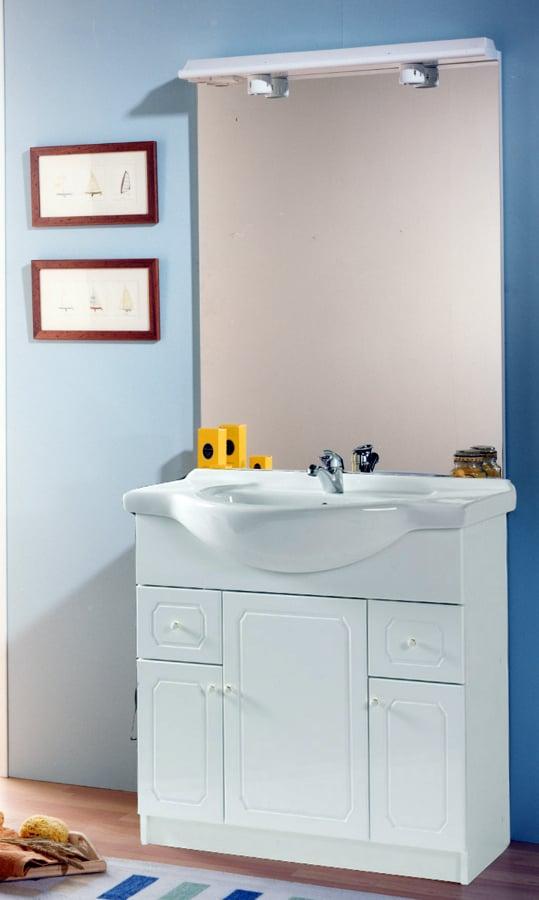 Decoracion Baño Sencillo: Adelaida 80 Cm Blanco Sencillo de Baniluzcom #283728 – Habitissimo